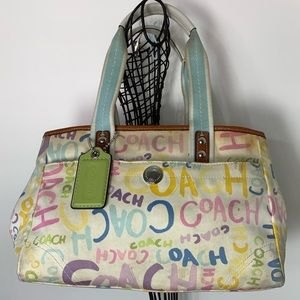 Coach Scribble Graffiti Bag F13565